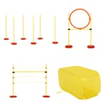 Pawhut Agility Set für 4 verschiedene Trainingsvarianten gelb