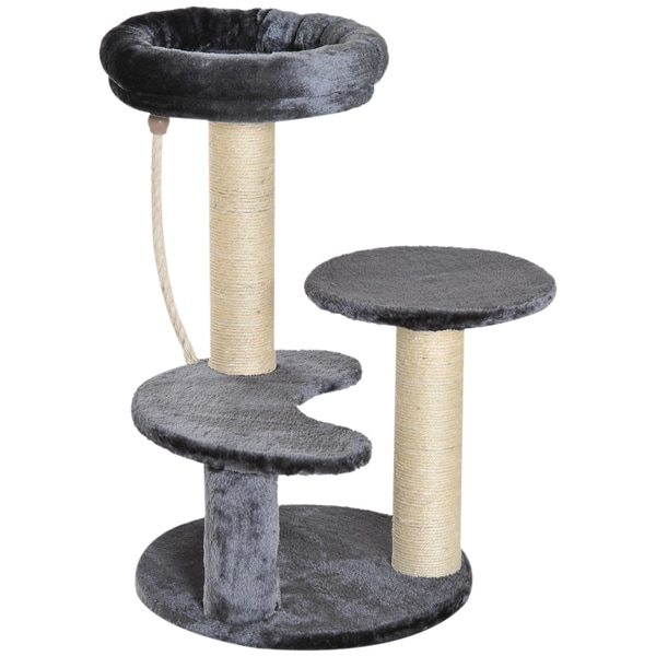 Pawhut Kletterbaum für Katzen grau