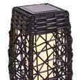 Outsunny Rattan-Solarlampe mit Lichtsensor kaffebraun