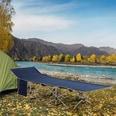 Outsunny Feldbett mit Aufbewahrungstasche blau/beige
