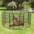 Pawhut Freilaufgehege für Kaninchen/Welpen und Kleintiere schwarz