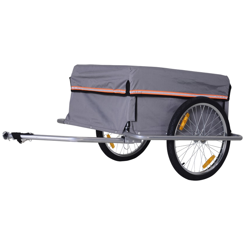 Homcom Transportanhänger inklusive Anhängerkupplung grau/schwarz