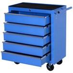 Homcom Fahrbarer Werkstattwagen mit 5 Schubladen blau