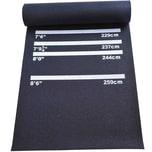 Homcom Dartmatte für Steel- und Softdart schwarz