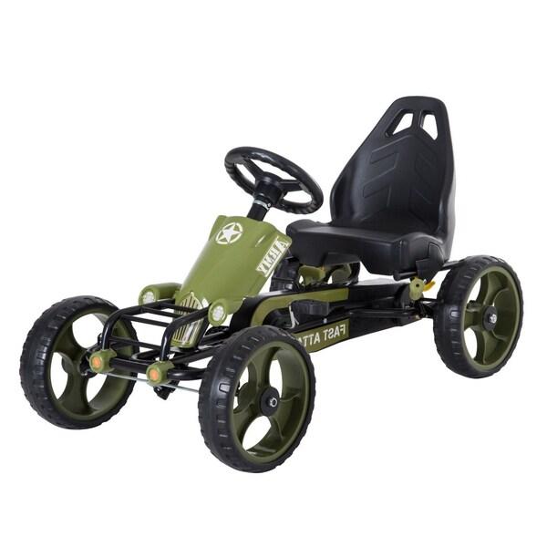 Homcom Kinder Go Kart mit Handbremse grün