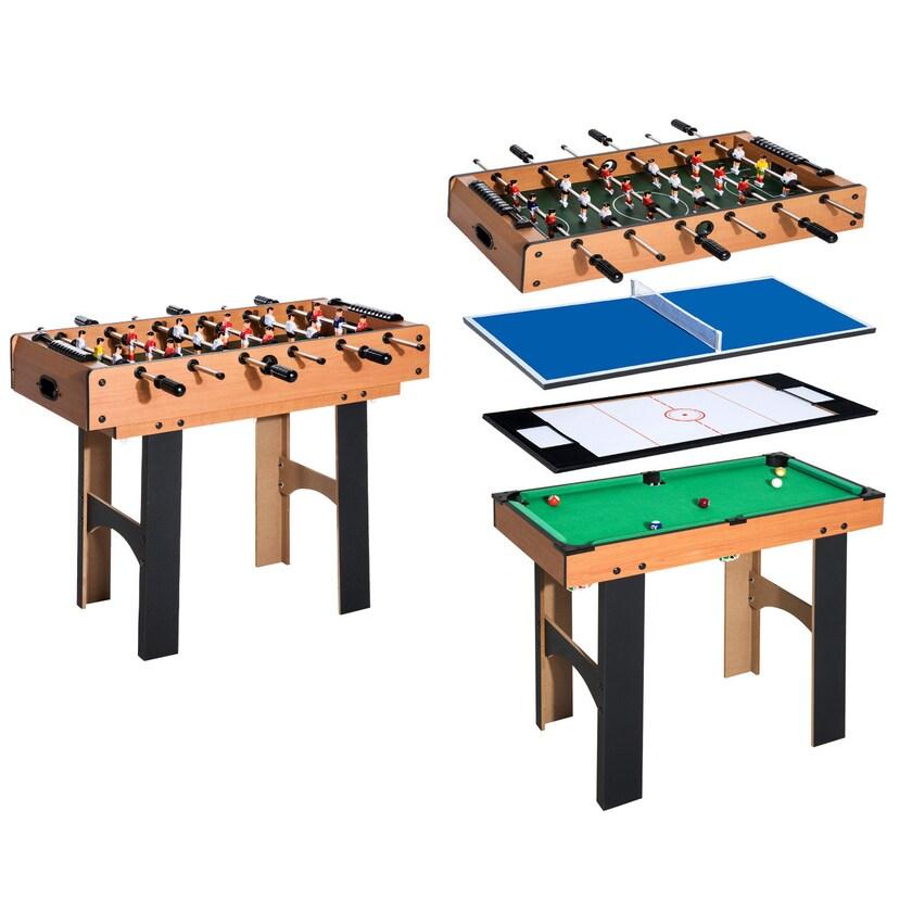 Homcom 4 in 1 Multi Spieltisch braun