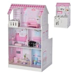 Homcom Puppenhaus und Spielküche rosa