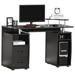 HOMCOM Computertisch mit Stauraum