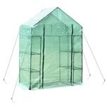Outsunny Gewächshaus mit 4 Regalfachböden grün