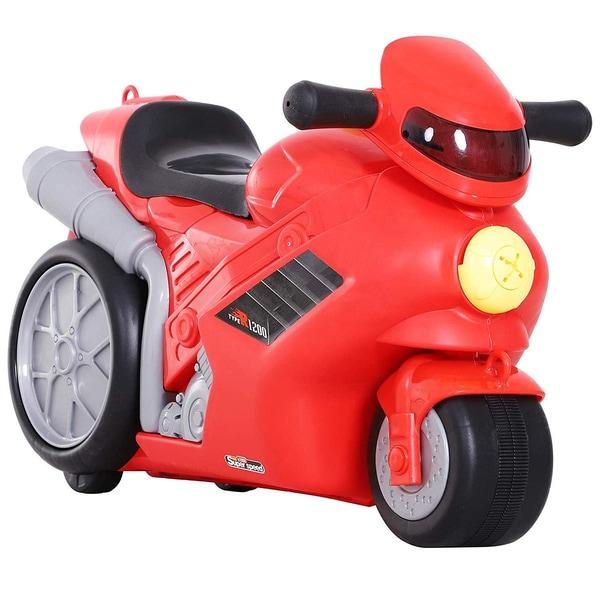 Homcom Kinderkoffer als Motorrad rot