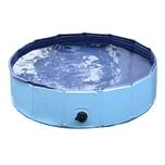 Pawhut Hundebadewanne mit Wasserablassventil blau