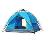 Outsunny Campingzelt für 3-4 Personen blau/gelb