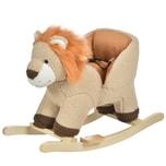 Homcom Kinder Schaukelpferd als Löwe braun