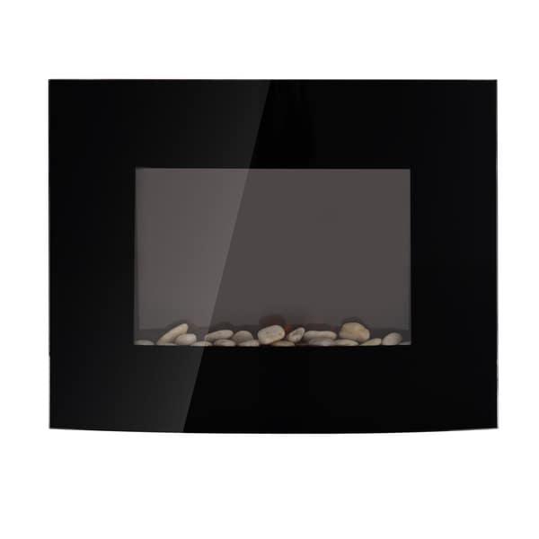 Homcom LED Elektrokamin mit Heizfunktion und Fernbedienungen schwarz