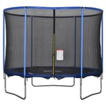 Homcom Trampolin mit Sicherheitsnetz blau, schwarz