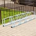 Homcom 5er Fahrradständer silber