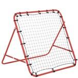 Homcom Fußball Rebounder mit verstellbaren Winkeln rot/schwarz