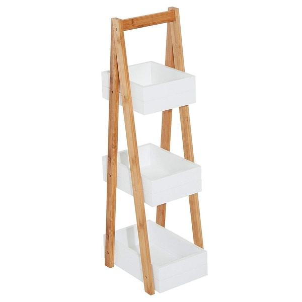 Homcom A-Shape Badregal weiß