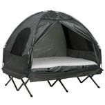 Outsunny Campingbett 4 in 1 Set grün