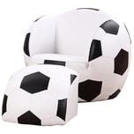 Homcom Kindersofa als Fußball schwarz/weiß