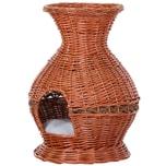 Pawhut Katzenhöhle in Vasenform braun