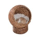 PawHut Katzenhaus aus Rattangeflecht
