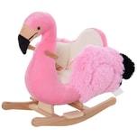 Homcom Kinder Schaukeltier als Flamingo rosa