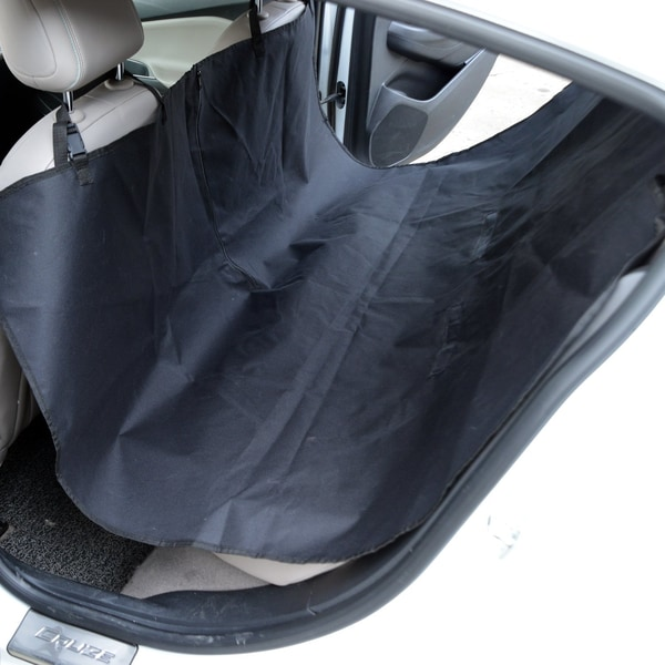 Pawhut Rücksitzdecke für Hunde schwarz