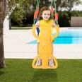 Homcom Kinderschaukel mit Fußstütze gelb/blau