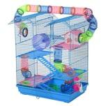 Pawhut Hamsterkäfig mit Zubehör mehrfarbig