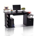Homcom Computertisch in Nussbaum-Nachbildung schwarz