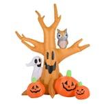 Homcom Halloween Spukbaum mit Beleuchtung natur