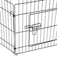 Pawhut Freilaufgehege für Hasen-Kaninchen und Hundewelpen schwarz