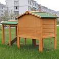 Pawhut Kaninchenstall mit Freigehege braun/grün
