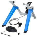 Homcom Fahrradtrainer mit Magnetbremse blau/silber