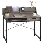 Homcom Schreibtisch im Industriestil grau/schwarz