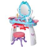 Homcom Kinderschminktisch mit Hocker blau