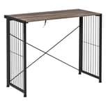 Homcom Schreibtisch im Industriedesign rustikales braun, schwarz