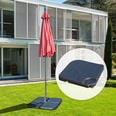 Outsunny Behälter für Bodenkreuz von Sonnenschirmständern schwarz