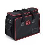 Homcom Werkzeugtasche mit Schultergurt schwarz/rot
