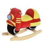 Homcom Kinder Schaukelwippe als Motorrad rot/gelb