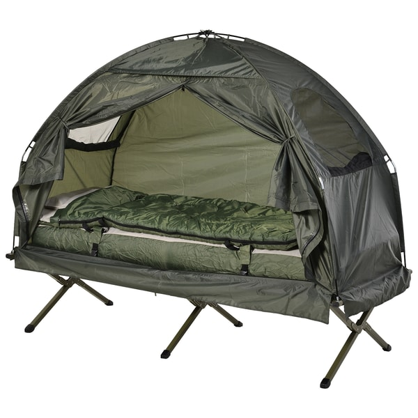 Outsunny Campingbett 4 in 1 Set dunkelgrün