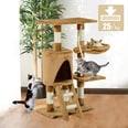 Pawhut Kletterbaum für Katzen braun