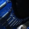 Homcom Gartentrampolin mit Sicherheitsnetz blau-schwarz