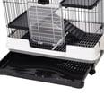 Pawhut Hamsterkäfig mit Rollen schwarz/weiß/grau
