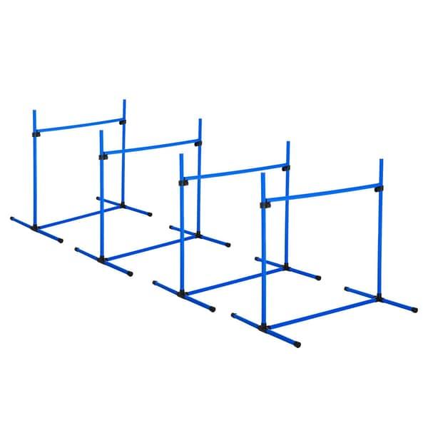 Pawhut Agility Hürdenset als 4er Set blau