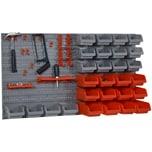 Durhand Werkzeuglochwand mit 44-teiliges Zubehör rot/grau