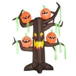 Homcom Aufblasbarer Spukbaum mit Kürbissen braun/orange/rot/gelb/grün