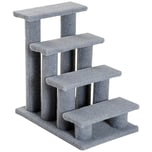 Pawhut Katzentreppe mit 4 Stufen hellbraun