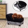 Pawhut Hundecouch mit Stauraum schwarz/weiß